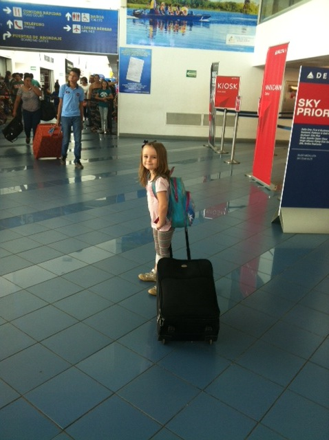 Kids travel airport