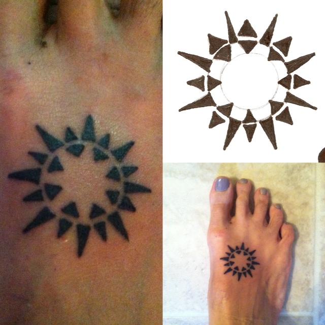 Sun tattoo June